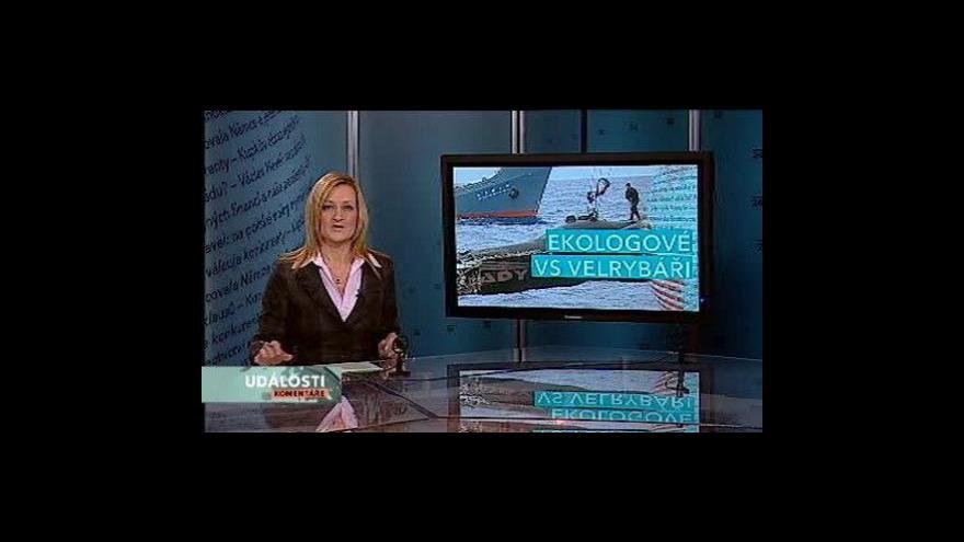 Video Události, komentáře o sporech velrybářů a ekologů
