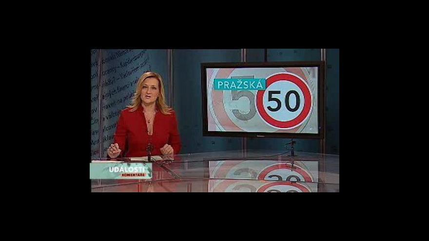 Video Události, komentáře o snížení rychlosti na magistrále