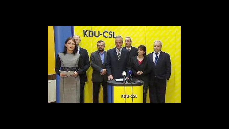 Video Tisková konference KDU-ČSL