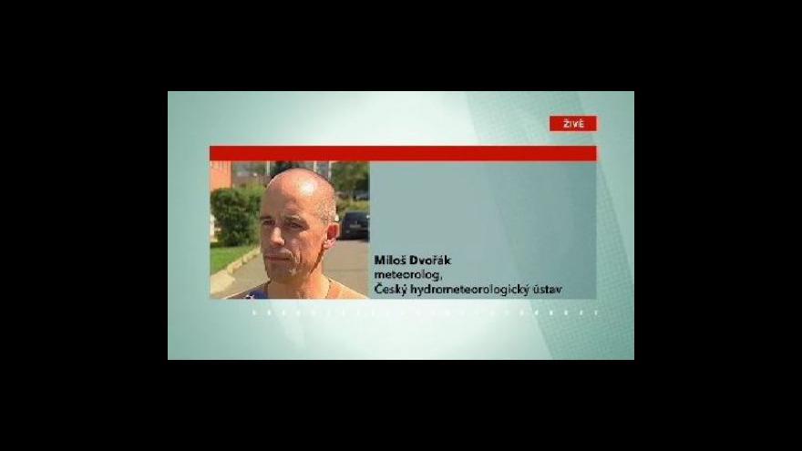 Video Reakce meteorologa Miloše Dvořáka