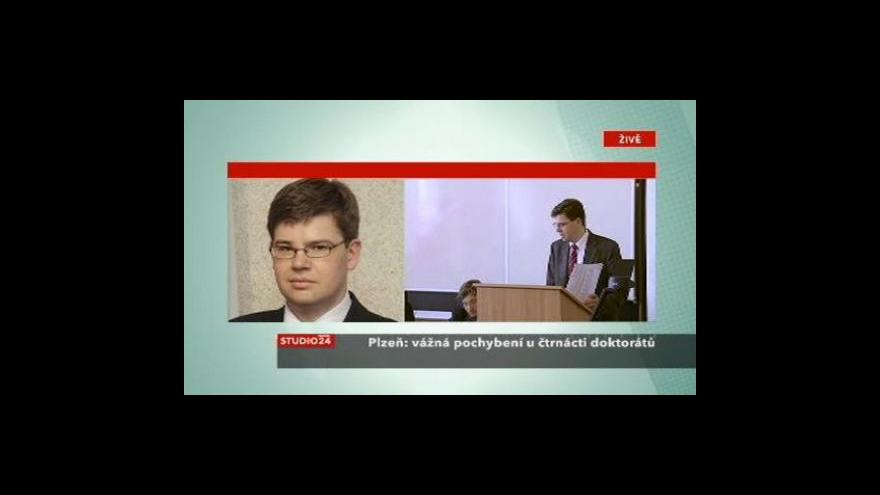 Video Jiří Pospíšil ve Studiu ČT24