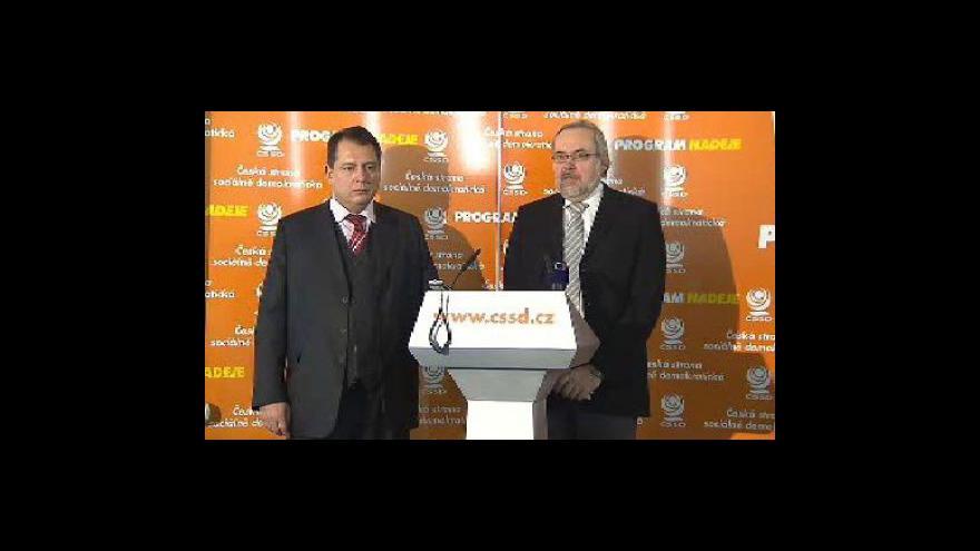 Video Brífink ČSSD k protideficitním opatřením