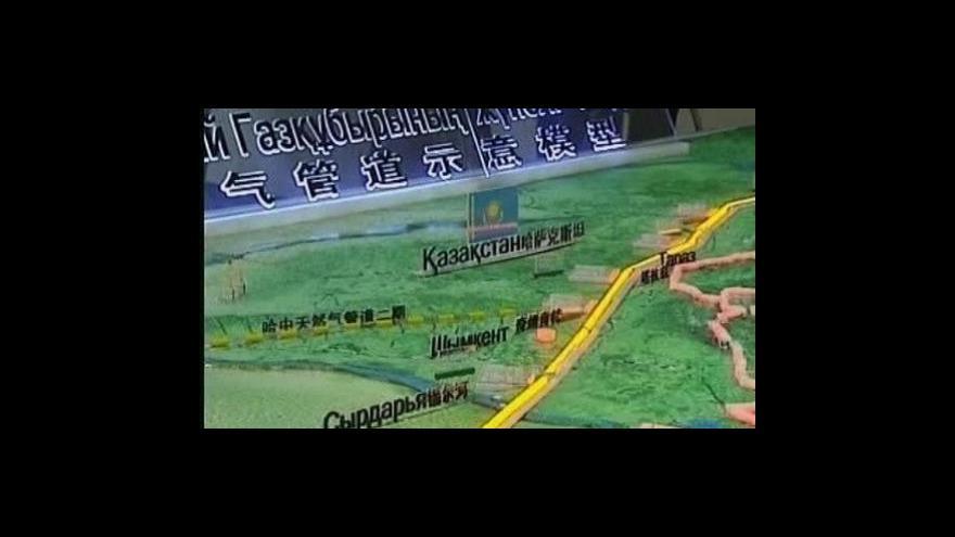 Video Ekonomika ČT24 o čínsko-turkmenském plynovodu