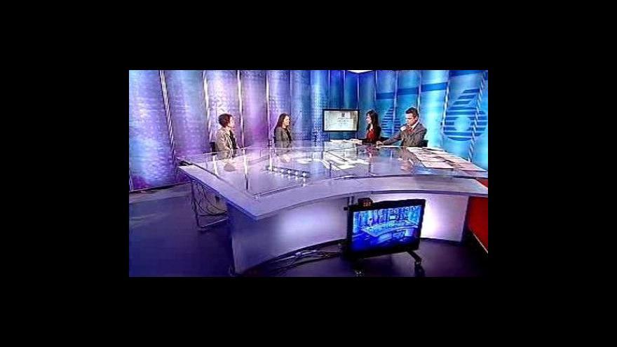 Video Pavla Doležalová a Terezie Hradílková ve Studiu ČT24