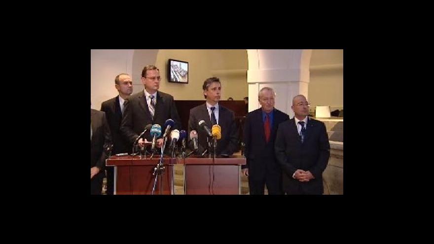 Video Brífink ODS a premiéra Fischera k rozpočtu