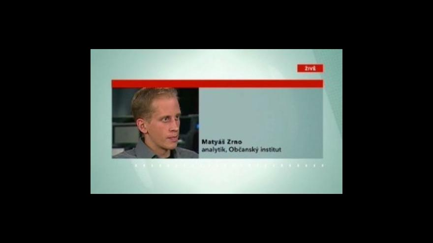 Video Rozhovor s Matyášem Zrnem, analytikem Občanského institutu