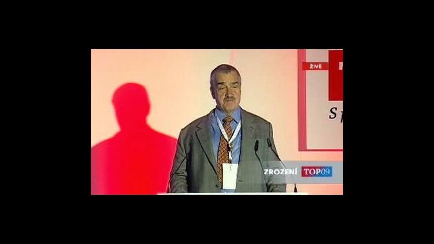 Video Projev Karla Schwarzenberga na sněmu TOP 09