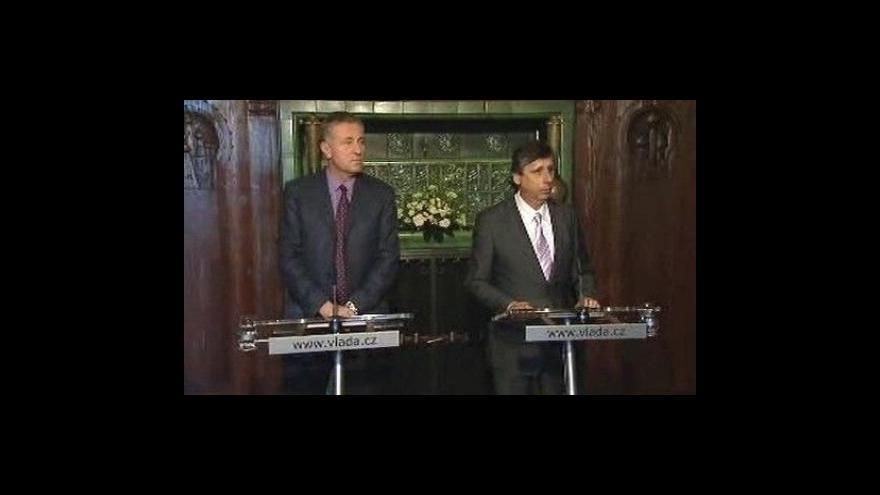 Video Brífink po jednání Fischera a Topolánka