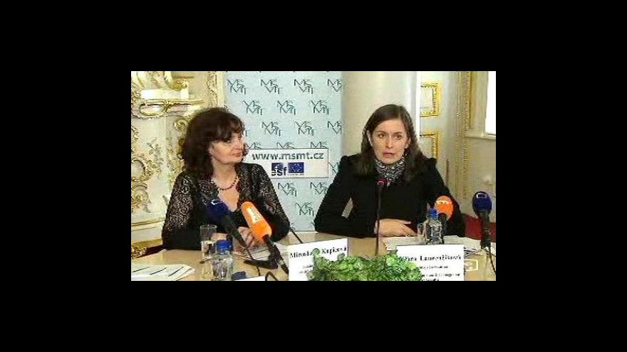 Video Tisková konference ministerstva školství