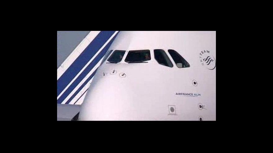 Video Airbus A380 odstartoval z Paříže