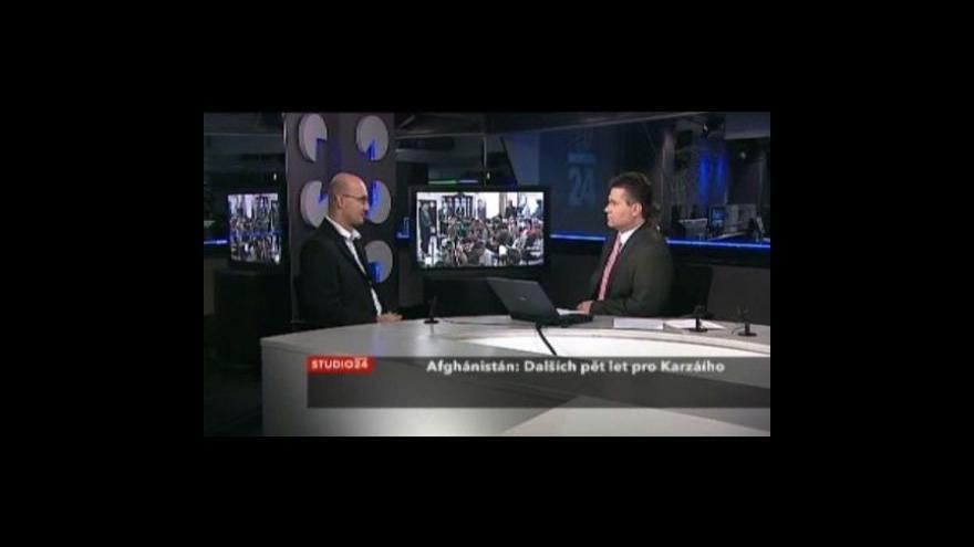 Video Studio ČT24 - Karzáí podruhé prezidentem