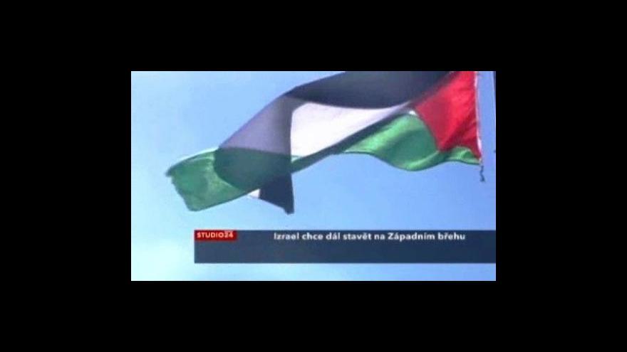 Video Izrael chce dál stavět na Západním břehu