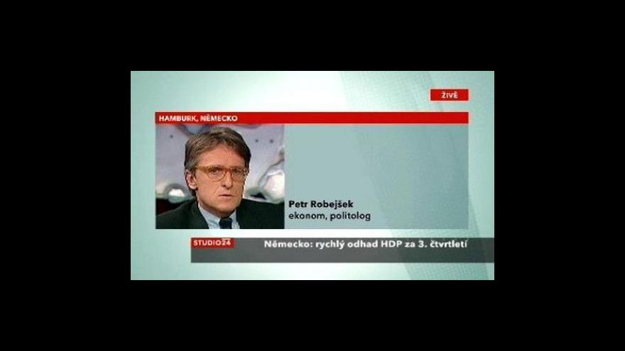 Video Petr Robejšek o německé ekonomice