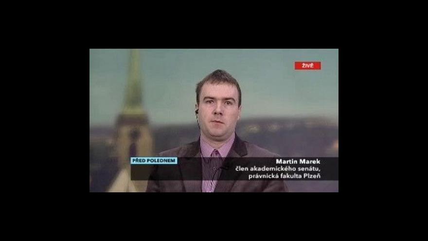 Video Martin Marek ve Studiu ČT24