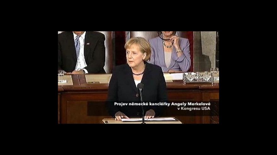 Video 1. část projevu Angely Merkelové