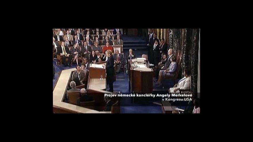 Video 2. část projevu Angely Merkelové
