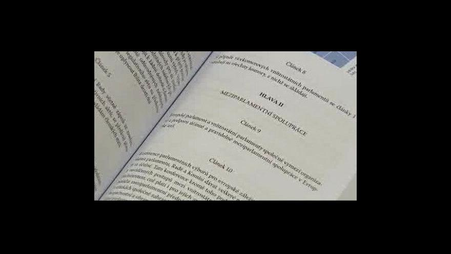 Video Odborářům se nelíbí jednání vlády v souvislosti s Lisabonem