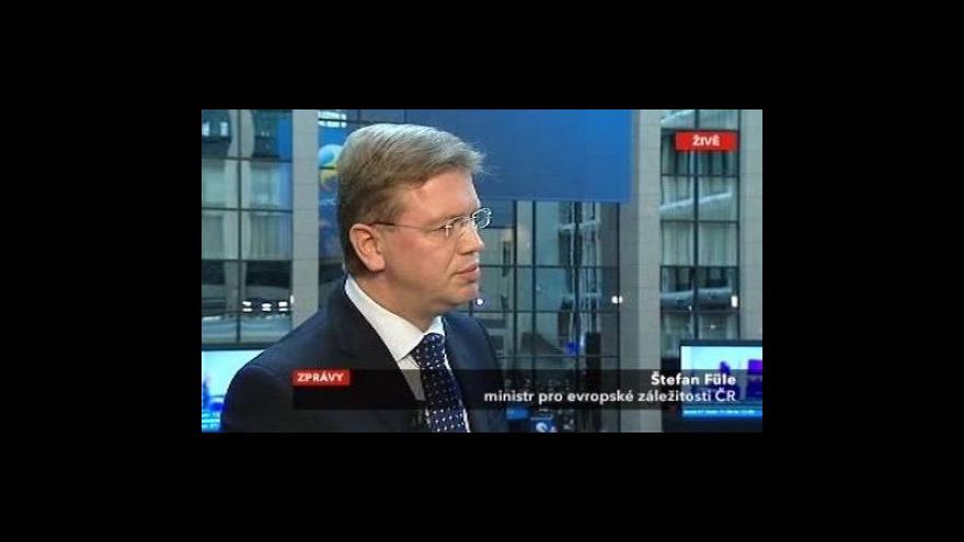 Video Štefan Füle k pokračujícímu summitu EU