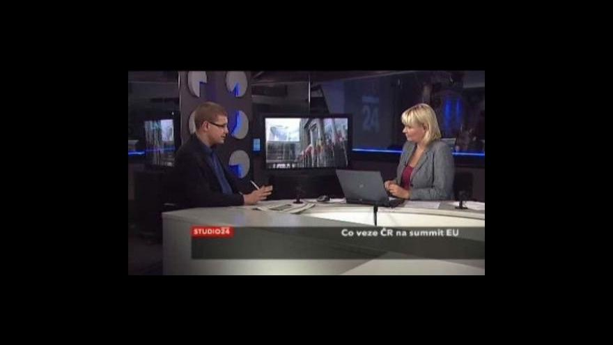 Video Studio ČT24 o summitu v Bruselu