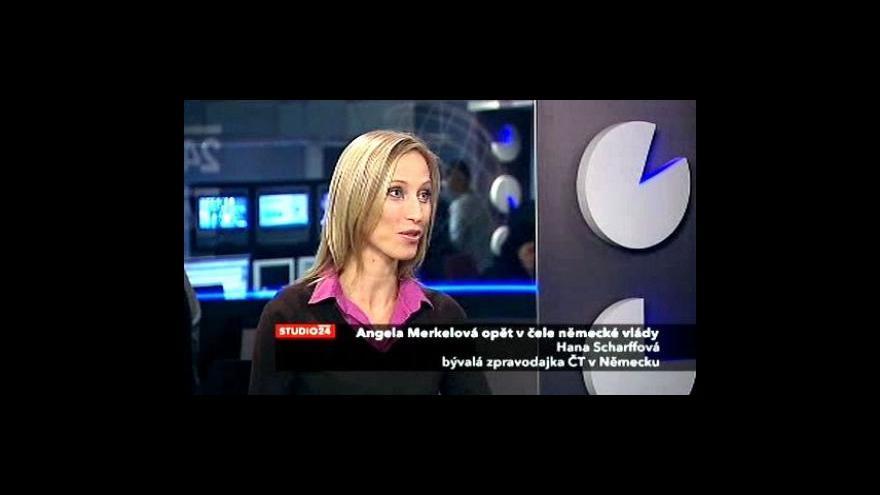 Video Hana Scharffová ve Studiu ČT24