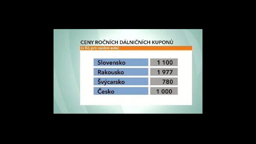 Video Ekonomika ČT24: Zdražování dálničních známek
