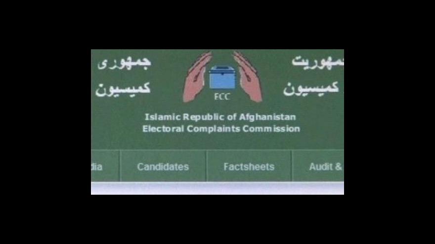 Video Druhé kolo afghánských voleb bude 7.11.