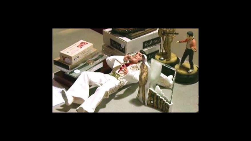 Video Aukce předmětů zpěváka Elvise Presleyho