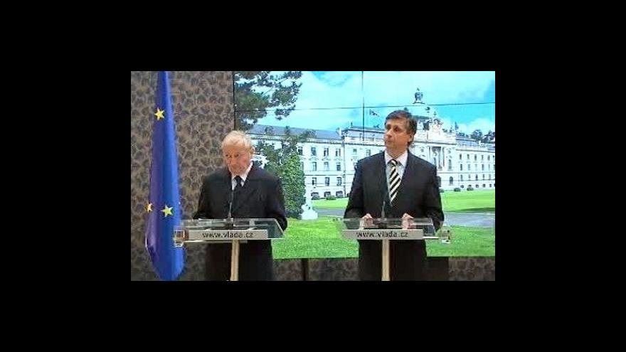 Video Brífink vlády k ratifikaci Lisabonu