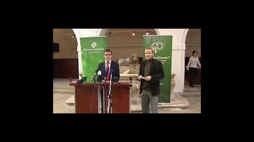 Video Tisková konference Strany zelených