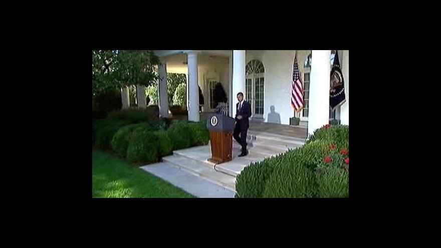 Video Prohlášení Baracka Obamy