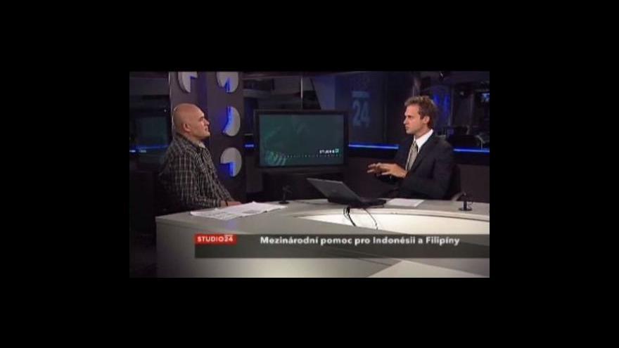 Video Studio ČT24 - Pomoc pro Indonésii a Filipíny