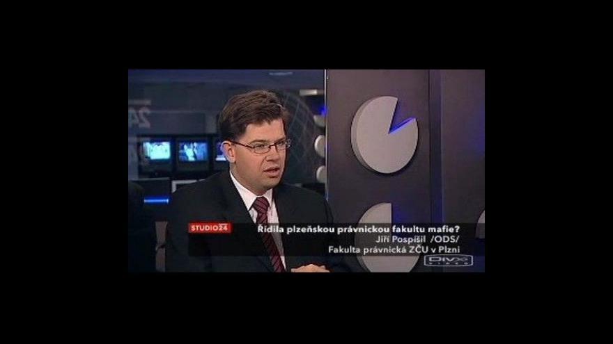 Video Jiří Pospíšil hostem studia ČT24