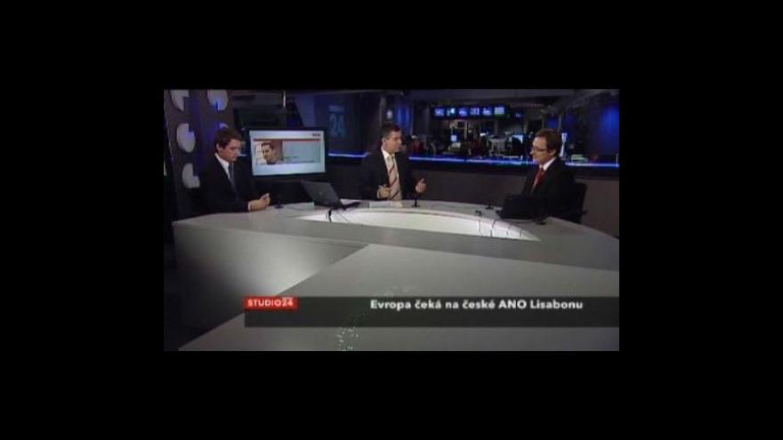 Video Studio ČT24 - Evropa čeká kvůli Lisabonu na Klause