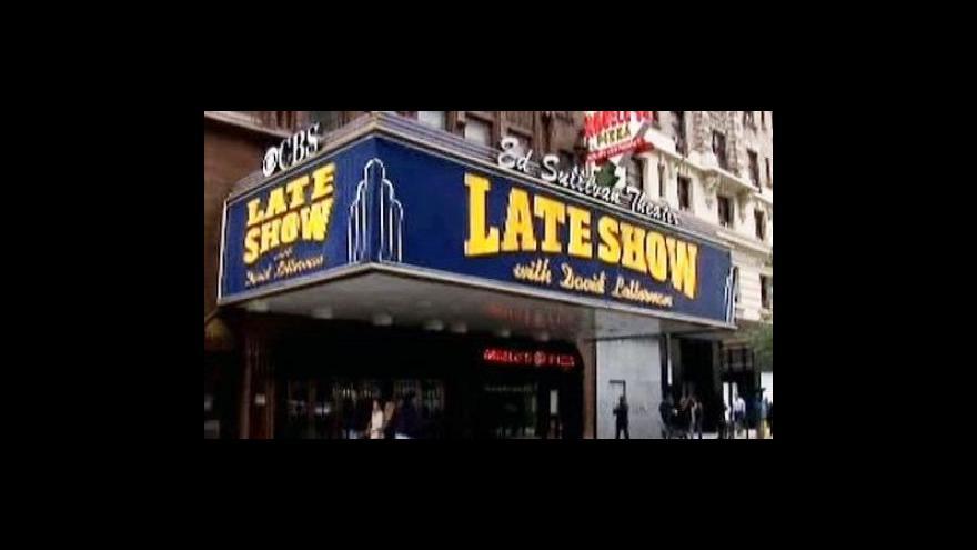 Video David Letterman čelí sexuální aféře