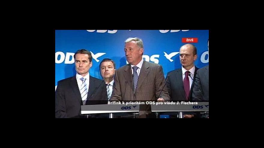 Video Brífink ODS k mandátu vlády