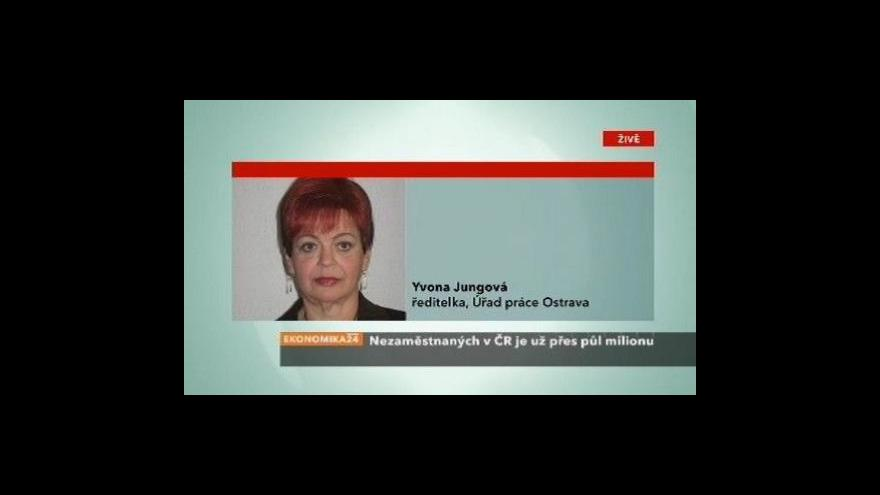 Video Telefonát Yvony Jungové o nezaměstnanosti v Ostravě
