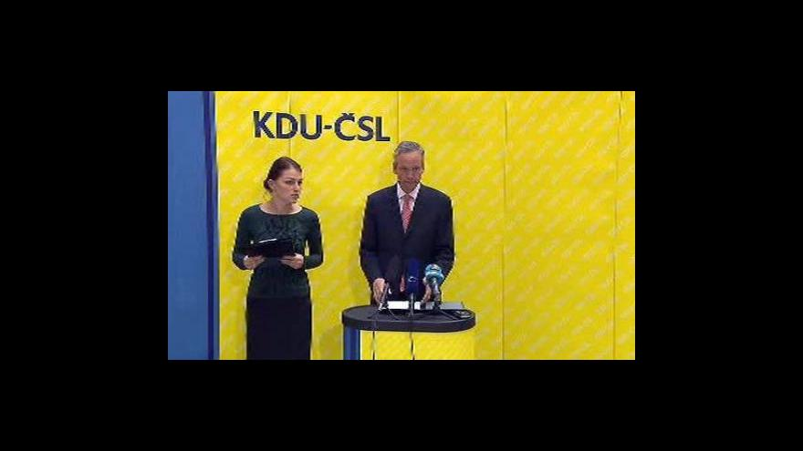 Video TK KDU-ČSL k postoji strany vůči TOP 09