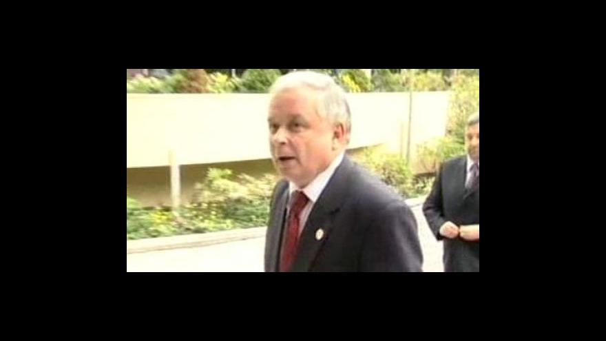 Video Podepíše Kaczyński Lisabonskou smlouvu?