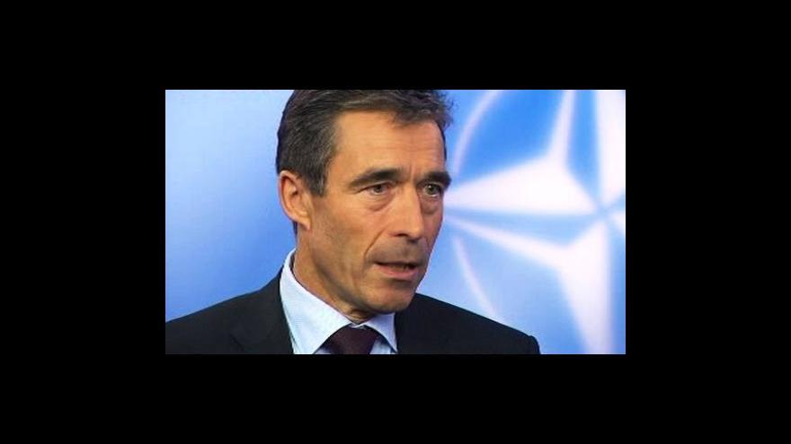 Video Rozhovor Barbory Šámalové s generálním tajemníkem NATO
