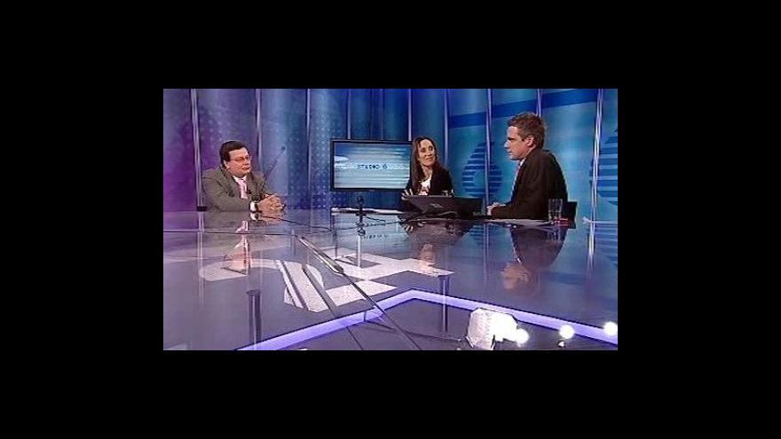 Video Alexandr Vondra ve Studiu ČT24