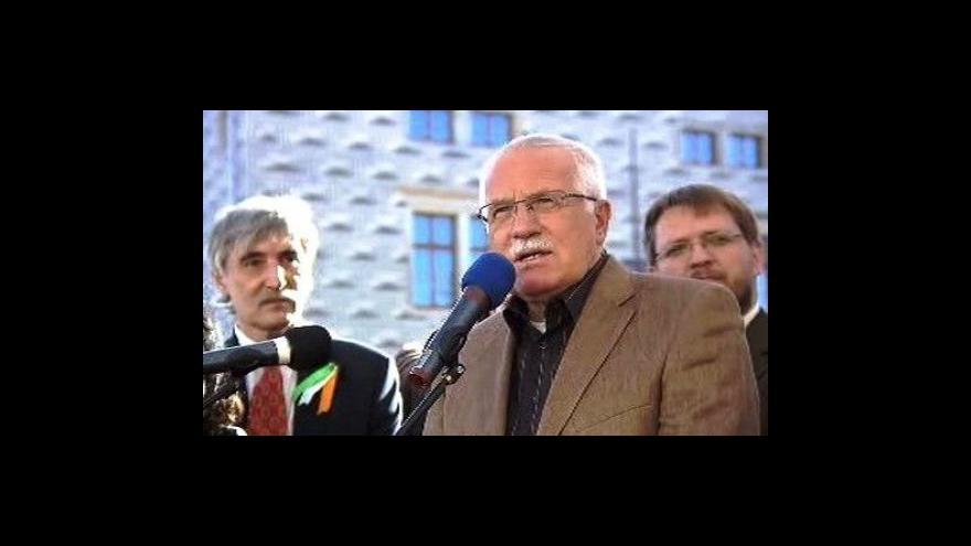 Video Vyjádření Václava Klause k irskému referendu
