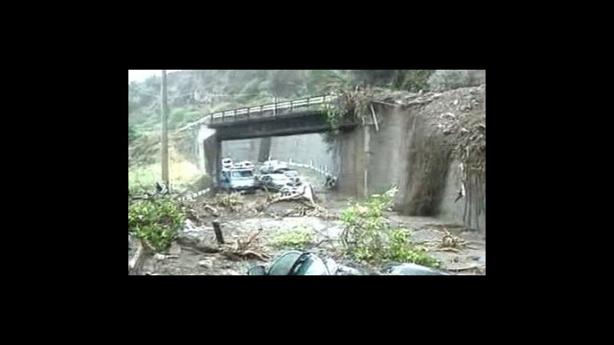 Video Na Sicílii zabíjely sesuvy půdy