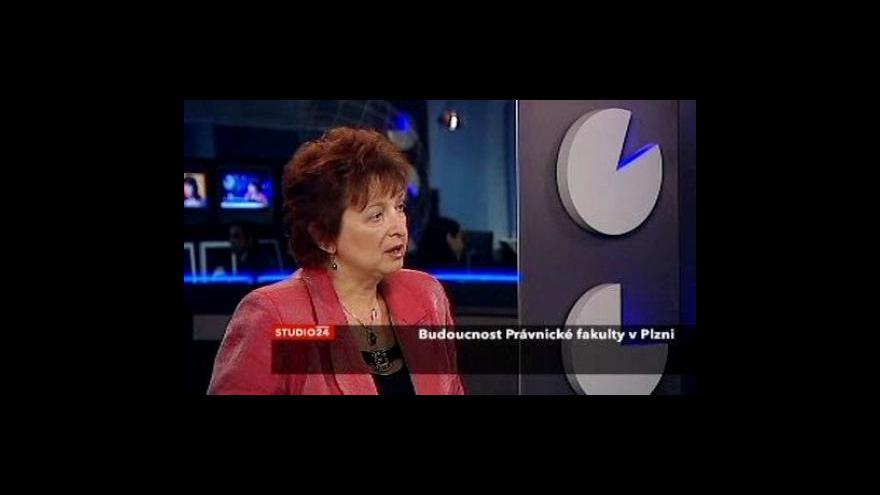 Video Studio ČT24 o budoucnosti právnické fakulty v Plzni