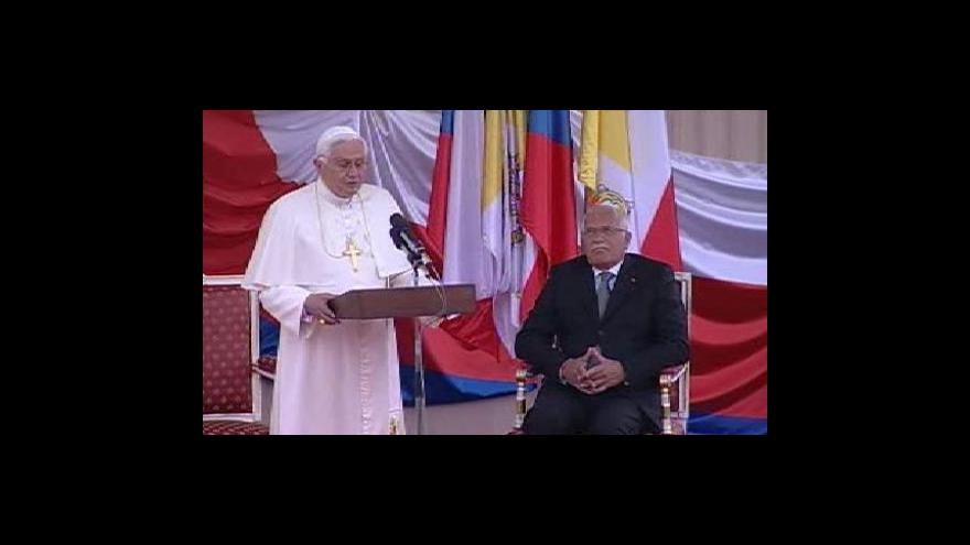 Video Závěrečné projevy Václava Klause a Benedikta XVI.