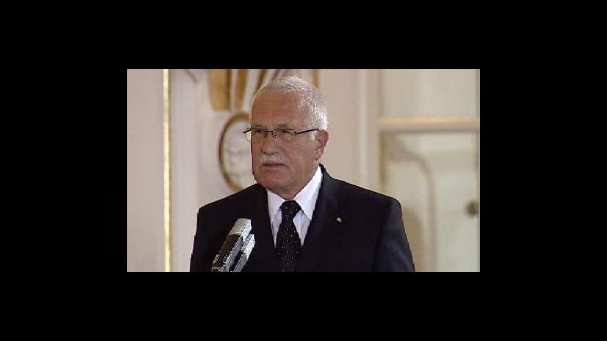 Video Projev Václava Klause ve Španělském sále