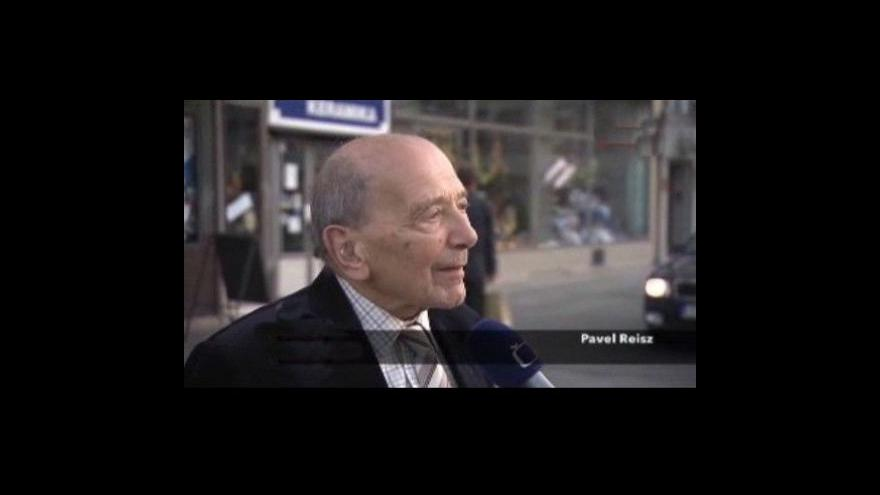 Video Pavel Reisz v rozhovoru před odkrytím pamětní desky