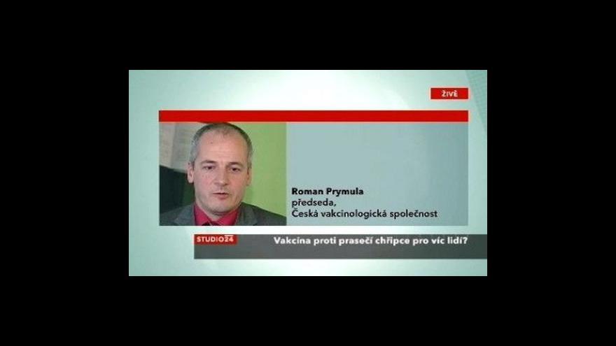 Video Vakcinolog Roman Prymula ve Stuidu ČT24