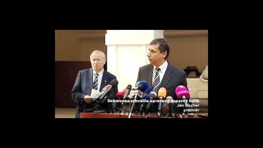 Video Vyjádření Jana Fischera a Eduarda Janoty po schválení balíčku