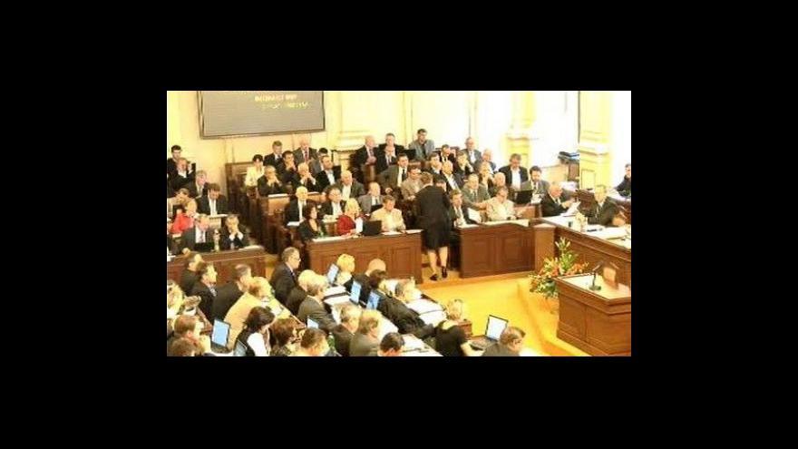 Video Reportáž o prvním dni jednání PS o úsporných opatřeních