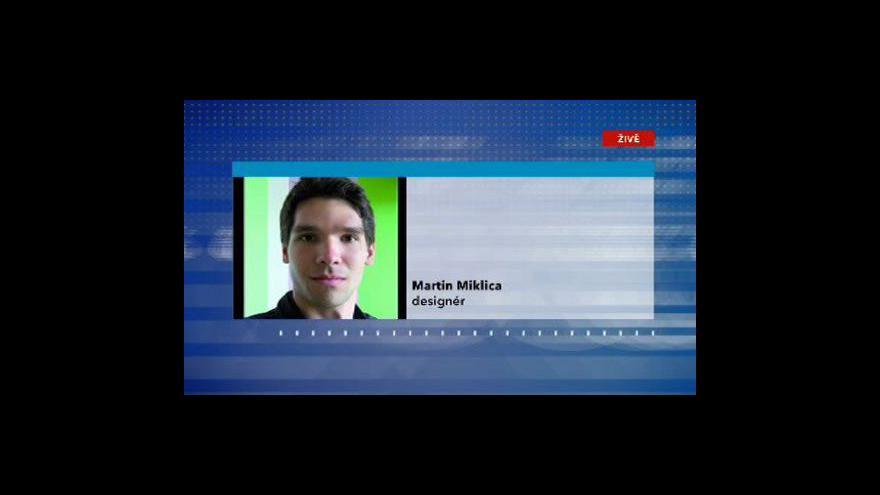 Video Rozhovor s designérem Martinem Miklicou